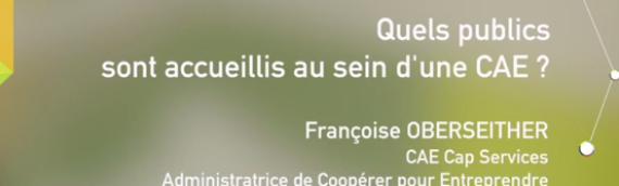 [Vidéo] Quels publics sont accueillis au sein d'une CAE ? par Francoise Oberseither